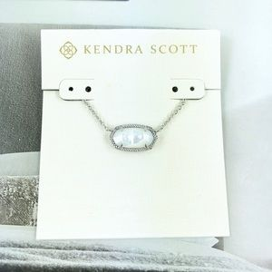 Kendra Scott Elisa ivory pearl silver necklace